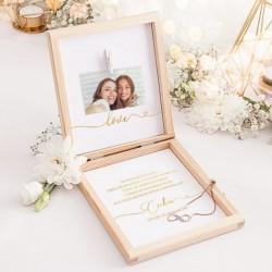 PREZENT dla Świadkowej w pudełku Bransoletka Only Love