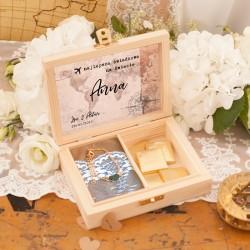 PREZENT dla Świadkowej w drewnianym pudełku Miesiąc Miodowy