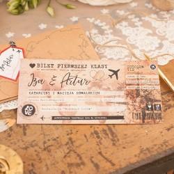ZAPROSZENIE ślubne personalizowane Miesiąc Miodowy