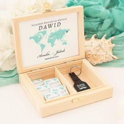 SKRZYNKA podziękowanie dla Świadka kolekcja Podróż Poślubna