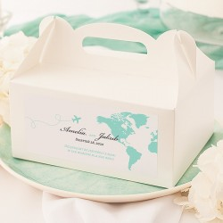 PUDEŁKA na ciasto dla gości Podróż Poślubna 10szt