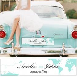 TABLICA rejestracyjna personalizowana Podróż Poślubna
