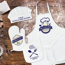PREZENT DLA PARY MŁODEJ zestaw kucharski z personalizacją