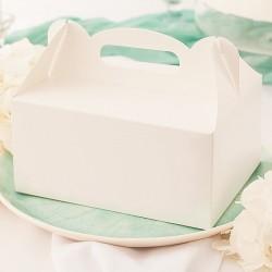 PUDEŁKA na ciasto dla gości białe Z RĄCZKĄ10szt