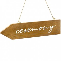 STRZAŁKA Drewniana do zawieszenia Ceremonia Ślubna