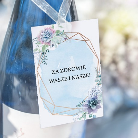 ZAWIESZKI na wódkę Błękitny Sukulent 20szt