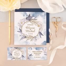 ZAPROSZENIE ślubne personalizowane Coś Niebieskiego