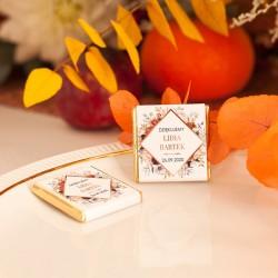 CZEKOLADKA ślubna personalizowana Barwy Jesieni