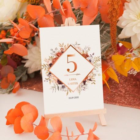 TABLICZKA na stolik z personalizacją Barwy Jesieni