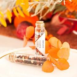 BUTELECZKA szklana z korkiem Barwy Jesieni (+etykieta)