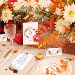 LIZAKI podziękowanie kolekcja Barwy Jesieni 10szt (+etykiety)