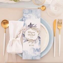 MENU weselne Kolekcja Coś Niebieskiego