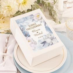 PUDEŁKA na ciasto z IMIONAMI Coś Niebieskiego 10szt