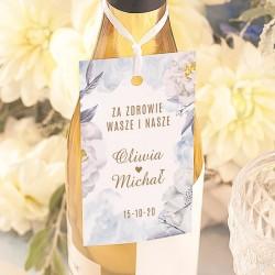 ZAWIESZKI na wódkę personalizowane Coś Niebieskiego 10szt