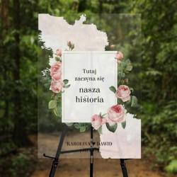 TABLICA powitalna z imionami Kwiat Róży