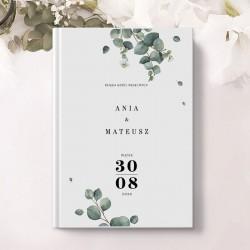 KSIĘGA GOŚCI wspomnienia ślubne Świeży Eukaliptus