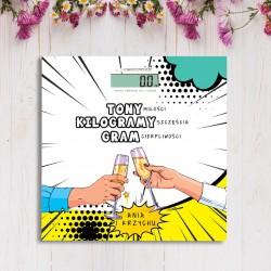 WAGA personalizowana prezent dla Młodej Pary Tona Miłości