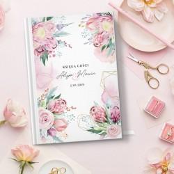 KSIĘGA GOŚCI wspomnienia ślubne Dream Flowers A5