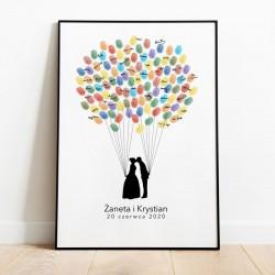 KSIĘGA GOŚCI personalizowana Pęk Balonów 50x70cm
