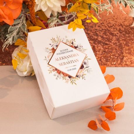 PUDEŁKA na ciasto z IMIONAMI Barwy Jesieni 10szt