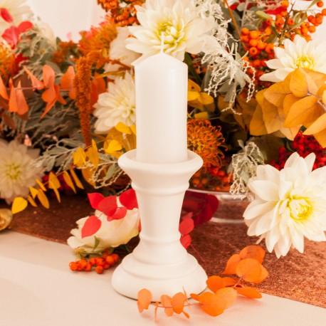 ŚWIECZNIK ceramiczny Bolsius na wszystkie świece 15cm