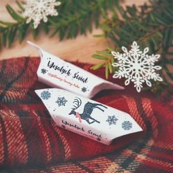 BOMBONIERKA z krówkami świąteczna Renifer