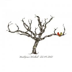 KSIĘGA GOŚCI personal. Drzewo zakochanych 50x70cm