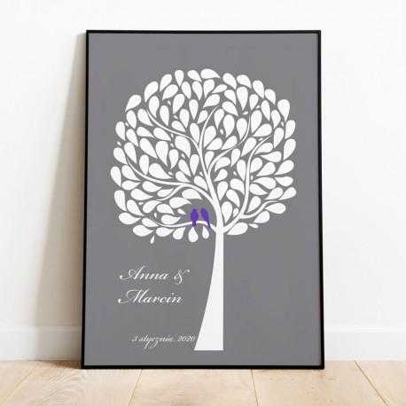 KSIĘGA GOŚCI personal. Miłosne Drzewo 50x70cm