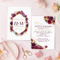 ZAPROSZENIE ślubne personalizowane Eteryczna Miłość