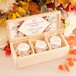 PODZIĘKOWANIE dla wyjątkowej osoby Skrzynka z dżemikami Barwy Jesieni