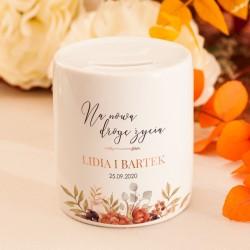 SKARBONKA ceramiczna Prezent Dla Młodej Pary Barwy Jesieni