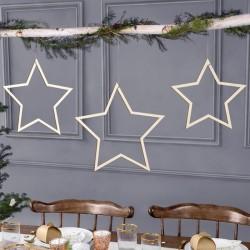 ZAWIESZKI drewniane świąteczne Bożonarodzeniowe Gwiazdki