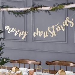 BANER dekoracyjny świąteczny drewniany Merry Christmas