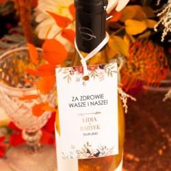 ZAWIESZKI na wódkę personalizowane Barwy Jesieni 10szt