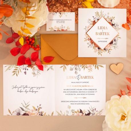 ZAPROSZENIE ślubne personalizowane Barwy Jesieni