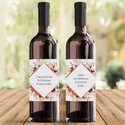 SKRZYNIA na 2 wina prezent dla Pary Młodej Barwy Jesieni (+etykiety)