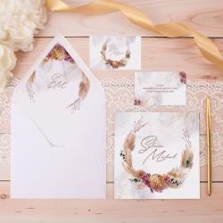 ZAPROSZENIE ślubne personalizowane Złoty Łan