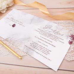 ZAPROSZENIE ślubne personalizowane Złote Łany