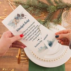 OPŁATEK wigilijny personalizowany z życzeniami Zimowa Gałązka