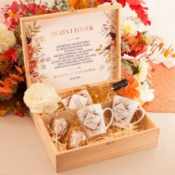SKRZYNKA personalizowana PREZENT DLA MŁODEJ PARY Barwy Jesieni