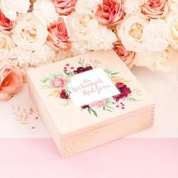 NADRUK na pudełko dla Rodziców Róż i Mięta