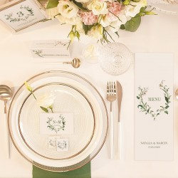 TABLICZKA na stolik z personalizacją Delikatne Lilie (+srebrna ramka)