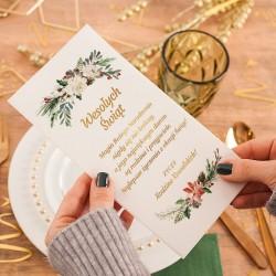 OPŁATEK Wigilijny z Życzeniami Świąteczny Wieniec PERSONALIZOWANY