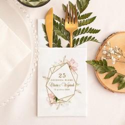 KIESZONKA na sztućce biała Rocznica Ślubu Z IMIONAMI