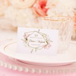 BILECIKI podziękowanie z imionami Rocznica Ślubu 20szt