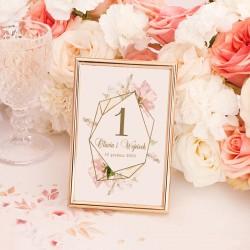 TABLICZKA na stolik z personalizacją Rocznica Ślubu (+złota ramka)