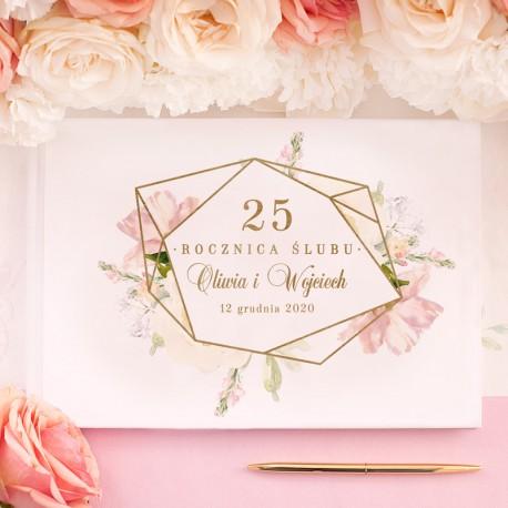 KSIĘGA GOŚCI weselnych Rocznica Ślubu BIAŁE/CZARNE KARTKI