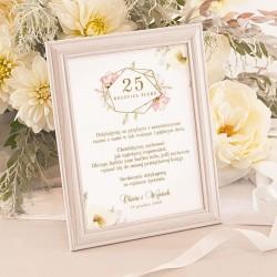 INSTRUKCJA do księgi gości w ramce Rocznica Ślubu
