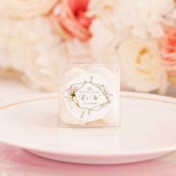 PUDEŁECZKA na prezenciki przezroczyste Rocznica Ślubu 10szt (+etykiety)