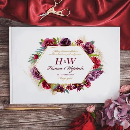 KSIĘGA GOŚCI weselnych Eteryczna Miłość BIAŁE/CZARNE KARTKI